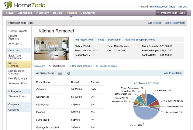 Slide4 Budget Homezada Home Improvement Remodeling Software On Home Improvement Budget Planner